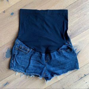 Liz Lange maternity cutoff denim shorts size 2